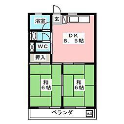 リアナ三塚一番館[2階]の間取り