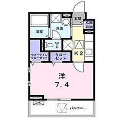 大阪府泉佐野市高松東1丁目の賃貸アパートの間取り