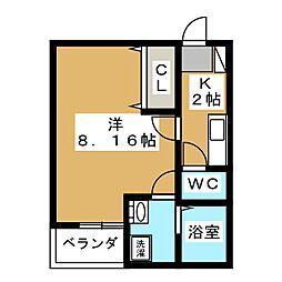 ヴィーブリアン仙台[2階]の間取り