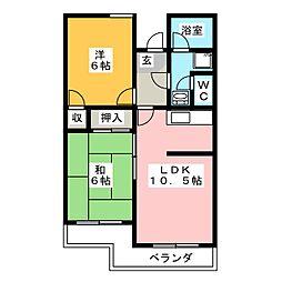 サンライズ千代田[2階]の間取り