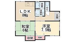 [一戸建] 兵庫県川西市小戸1丁目 の賃貸【/】の間取り