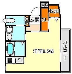 ビスポーク板宿[2階]の間取り