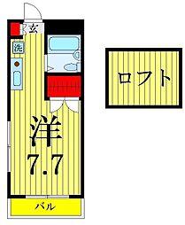 第12ヒカリハイツ A棟[2階]の間取り