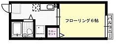 シティハイム平山[105号室]の間取り