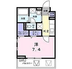 高松東1丁目アパート[2階]の間取り
