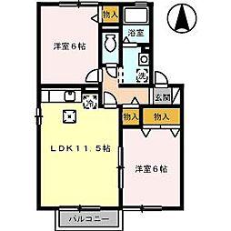 清水崎ハウス A棟[102号室]の間取り