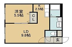 メゾン・ド・キキ[2階]の間取り