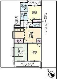 ストーンリバーマンション[2階]の間取り