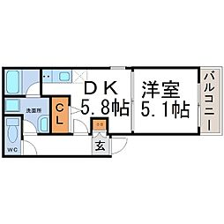 Hブランド尼崎[3階]の間取り