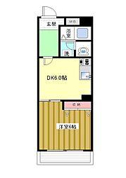 こもれび荘[3F号室]の間取り