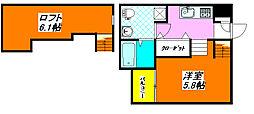ドゥエマーニ楠根 102号室[1階]の間取り