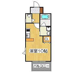 ベラジオ京都神泉苑[3階]の間取り