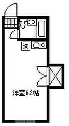 東京都調布市富士見町4丁目の賃貸アパートの間取り