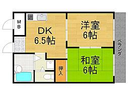 アケディア21[2階]の間取り