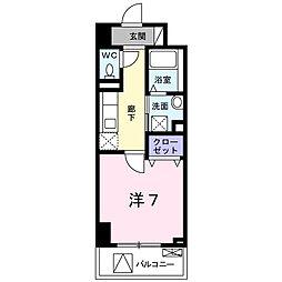 東京都八王子市八幡町の賃貸マンションの間取り