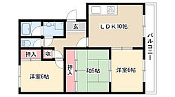 愛知県名古屋市昭和区大和町2丁目の賃貸マンションの間取り