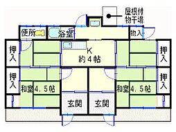 [タウンハウス] 兵庫県姫路市網干区津市場 の賃貸【/】の間取り