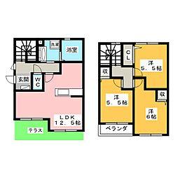 [テラスハウス] 愛知県名古屋市瑞穂区松栄町2丁目 の賃貸【/】の間取り