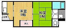末松コーポ[1階]の間取り