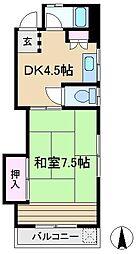 ハイツ吉田[4階]の間取り