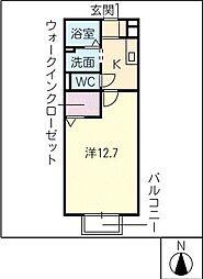 コンフォートアベニュー西棟[1階]の間取り