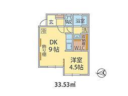 千葉県市川市大野町の賃貸アパートの間取り