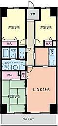 クゲヌマファースト[602号室]の間取り