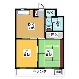 中原マンション[5階]の間取り