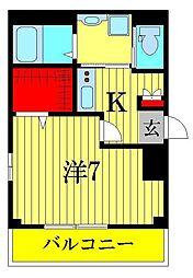 b'CASA 天王台[2階]の間取り