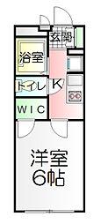 東京都足立区中央本町1丁目の賃貸アパートの間取り