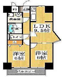 BGC難波タワー(ブルグリンコート)[9階]の間取り