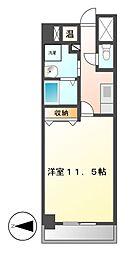 CASSIA錦本町通(旧スタジオスクエア錦)[8階]の間取り