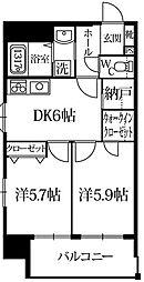 ポンドマムハカタ[8階]の間取り