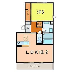 仮)東栄町新築アパート[1011号室]の間取り