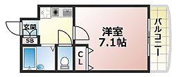 シャトラン弓木二番館[4階]の間取り