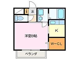 エスポワ−ル[2階]の間取り
