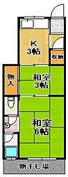 [テラスハウス] 大阪府大阪市大正区三軒家西1丁目 の賃貸【/】の間取り
