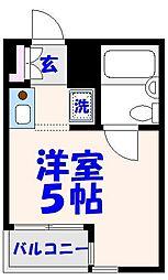 ユーコート本八幡[2階]の間取り