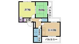 コスモハイツIII[101号室]の間取り