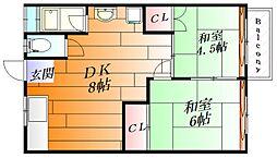 トップヒルコート[2階]の間取り