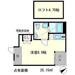 S-COURT[4階]の間取り