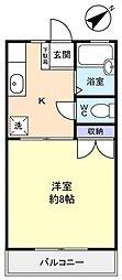 ハイツミドリA棟[2階]の間取り