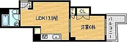 グランパス天満橋[5階]の間取り