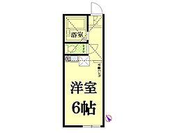 神奈川県横浜市鶴見区東寺尾5丁目の賃貸アパートの間取り