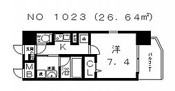 ソレアードコート[5階]の間取り