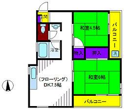ヴィレチ森田[2階]の間取り