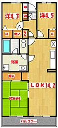 グランシャリオ千間台[5階]の間取り