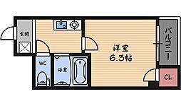 プレミアム福島[5階]の間取り
