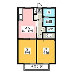 シンフォニア[2階]の間取り