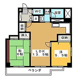 ラ・フォリア[4階]の間取り